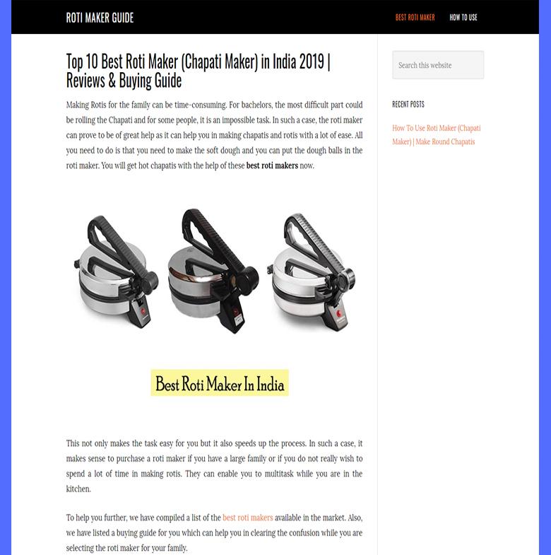 Roti Maker Guide